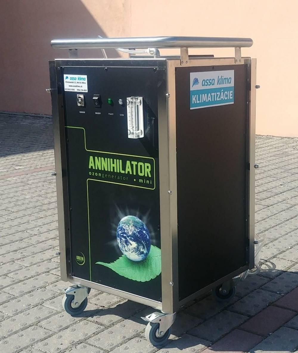Dezinfekcia vzduchotechniky, klimatizácie a rekuperácie ozónom